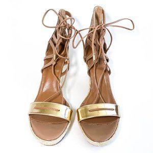 Aquazzura Lace-Up Wedge Sandals
